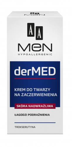 AA MEN DERMED Face cream, Anti-redness-hypersensitive skin, 50 ml