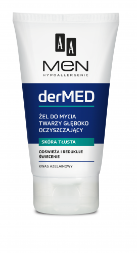 AA MEN DERMED Deep cleansing facial wash gel, 150 ml