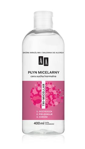 AA Płyn micelarny, cera sucha/normalna, 400 ml