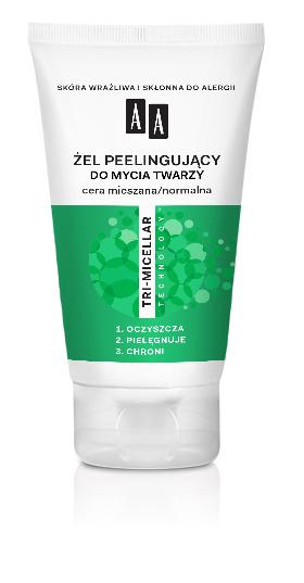 AA Żel peelingujący do mycia twarzy, cera mieszana/normalna, 150 ml