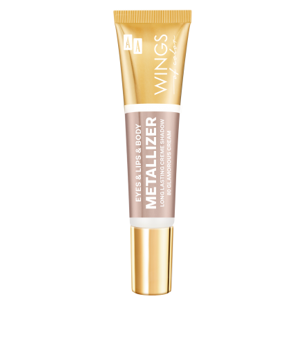 AA WINGS OF COLOR Eye&Lips&Body Metallizer Long Lasting Creme Shadow 80 Glamorous Cream 10ml