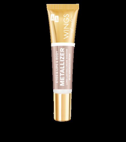 AA WINGS OF COLOR Eye&Lips&Body Metallizer Long Lasting Creme Shadow 80 Glamorous Cream 10ml