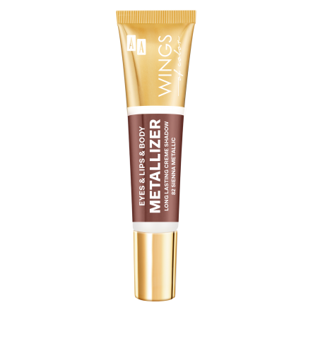 AA WINGS OF COLOR Eye&Lips&Body Metallizer Long Lasting Creme Shadow 82 Sienna Metallic 10ml