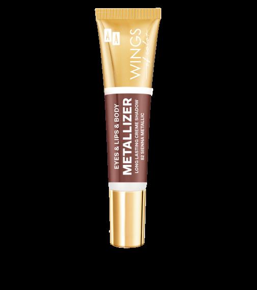 AA WINGS OF COLOR Eye&Lips&Body Metallizer Long Lasting Creme Shadow 82 Sienna Metallic 10ml
