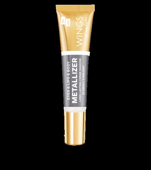 AA WINGS OF COLOR Eye&Lips&Body Metallizer Long Lasting Creme Shadow 83 Smoky Starlight 10m