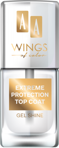 AA WINGS OF COLOR EXTREME PROTECTION TOP COAT GEL SHINE, LAKIER NAWIERZCHNIOWY 11ML