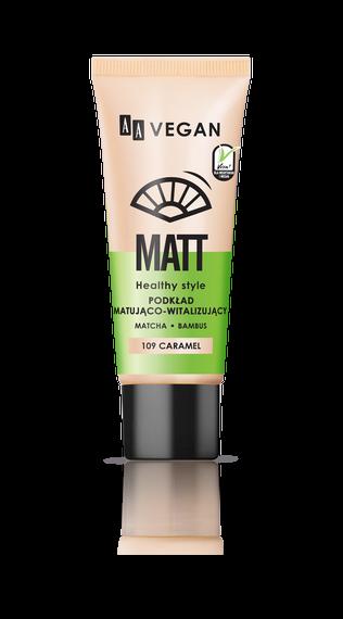 AA VEGAN MATT Podkład Matująco Witalizujący 109 Caramel, 30 ml