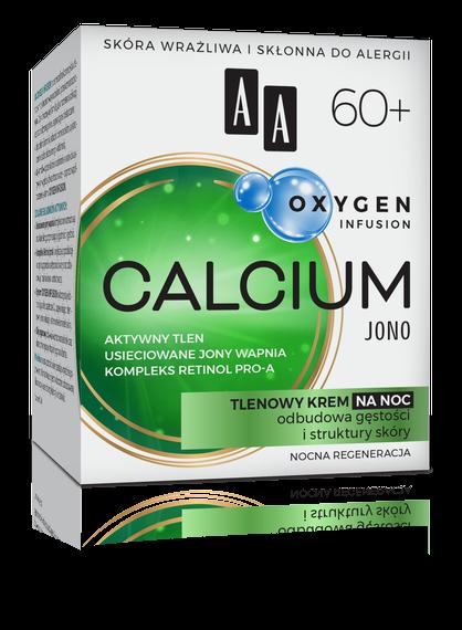 AA OXYGEN INFUSION 60+ calcium jono, tlenowy krem na noc