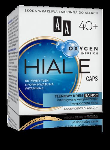 AA OXYGEN INFUSION 40+ hial e caps, tlenowy krem na noc