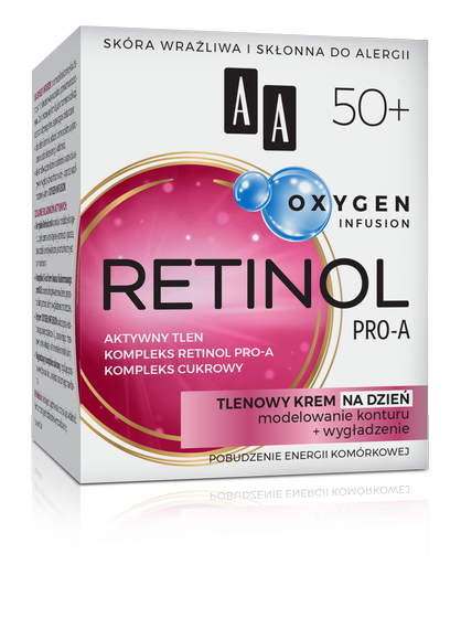 AA OXYGEN INFUSION 50+ retinol pro-a, tlenowy krem na dzień