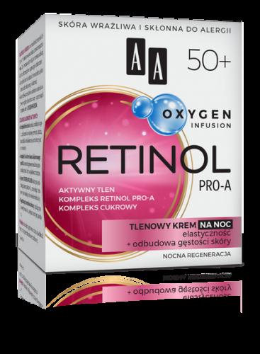 AA OXYGEN INFUSION 50+ retinol pro-a, tlenowy krem na noc
