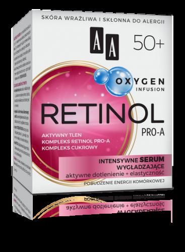 AA OXYGEN INFUSION 50+ retinol pro-a, intensywne serum wygładzające