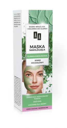 AA CARBON&CLAY Maska nawilżająca z glinką kaolin
