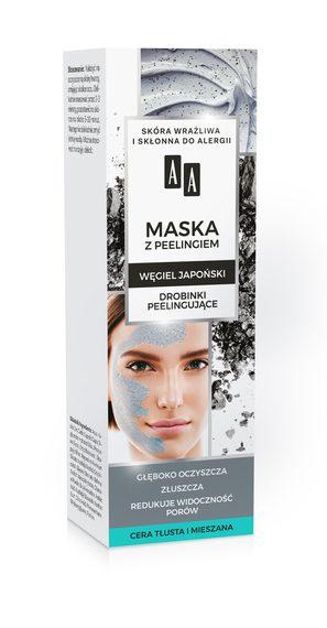 AA CARBON&CLAY Maska węglowa z peelingiem