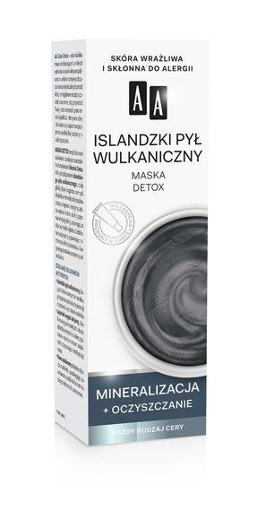 AA COLOR DETOX  Islandzki pył wulkaniczny maska detoksykujaca