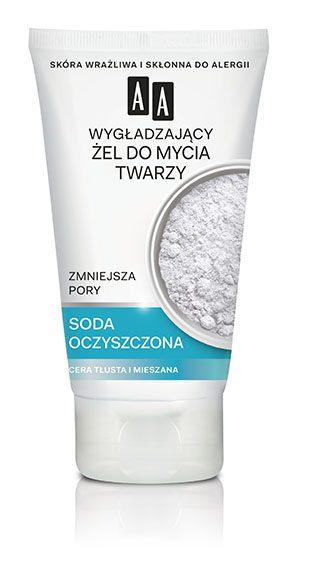 AA COLOR DETOX Wygładzający żel do mycia twarzy zmniejszający pory soda oczyszczona
