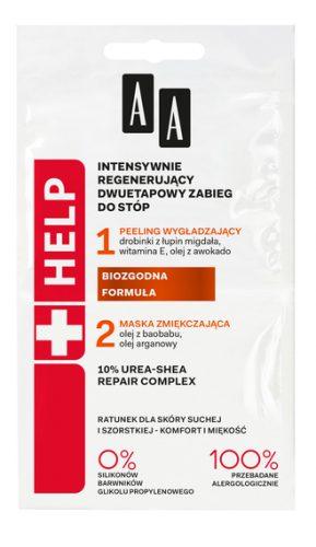 AA Help Regenerujący zabieg 2-etapowy do stóp 2 x 5 ml