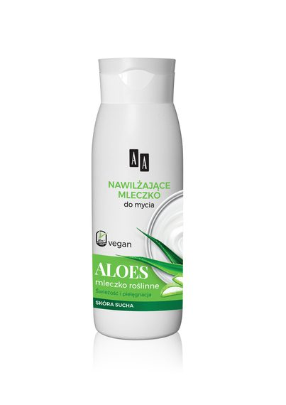 AA Vegan Mleczko pod prysznic i do kapieli nawilżające ALOES 400 ml