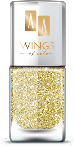 AA WINGS OF COLOR SUMMER FESTIVAL BROKATOWY HOLOGRAFICZNY LAKIER DO PAZNOKCI 101 GOLD 11ML