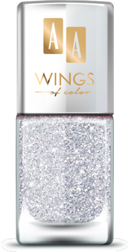 AA WINGS OF COLOR SUMMER FESTIVAL BROKATOWY HOLOGRAFICZNY LAKIER DO PAZNOKCI 102 SILVER 11ML