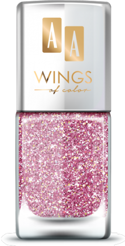 AA WINGS OF COLOR SUMMER FESTIVAL BROKATOWY HOLOGRAFICZNY LAKIER DO PAZNOKCI 103 PINK 11ML