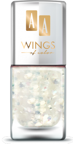 AA WINGS OF COLOR SUMMER FESTIVAL BROKATOWY HOLOGRAFICZNY LAKIER DO PAZNOKCI 104 WHITE 11ML