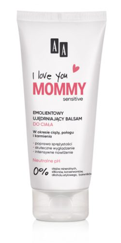 AA I Love you Mommy Emolientowy Ujędrniajacy balsam do ciała 200 ml