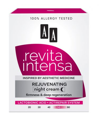 AA REVITA INTENSA 50+ Rejuvenating Night Cream, firmness and deep regeneration, 50 ml