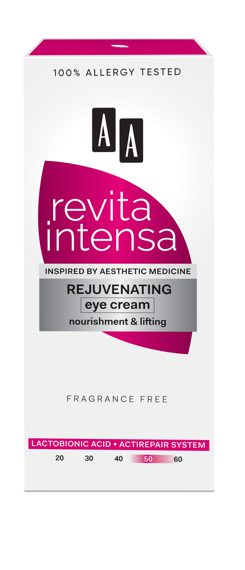 AA REVITA INTENSA 50+ Rejuvenating Eye Cream, nourishment and lifting,