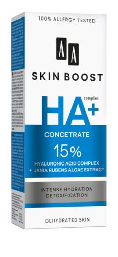 AA SKIN BOOST HA + Serum 15% Hialuronic Acid Complex + Jania Rubens Algae Extract, 30 ml