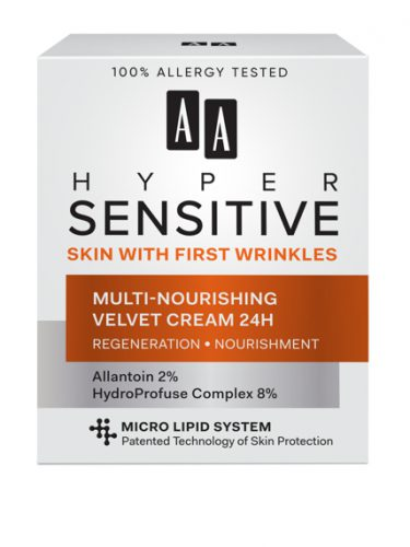 AA HYPERSENSITIVE SKIN MULTI-NOURISHING VELVET CREAM 24H 50 ML All skin types