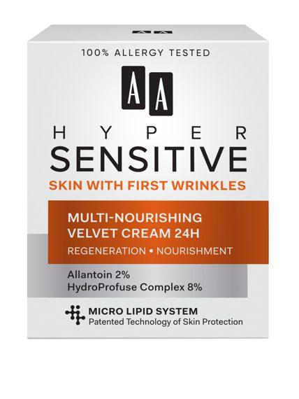 AA HYPERSENSITIVE SKIN MULTI-NOURISHING VELVET CREAM 24H 50 ML All skin types