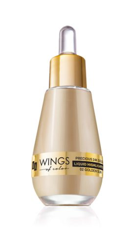 AA WINGS OF COLOR ROZŚWIETLACZ PRECIOUS LIQUID HIGHLIGHTER 02 GOLDEN SAND 15 ML