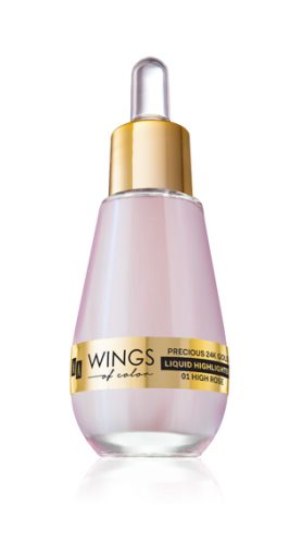 AA WINGS OF COLOR ROZŚWIETLACZ PRECIOUS LIQUID HIGHLIGHTER 01 HIGH ROSE 15 ML