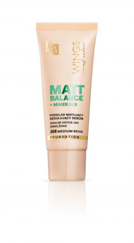 AA WINGS OF COLOR PODKŁAD MATT BALANCE 208 30ML