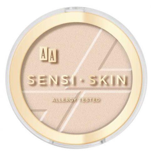 AA Sensi Skin matujący puder prasowany 01 transparent