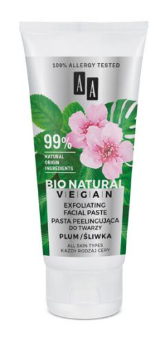 AA BIO NATURAL VEGAN PASTA PEELINGUJĄCA DO TWARZY 50 ML