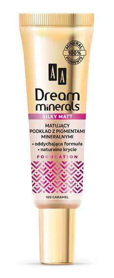 AA DREAM MINERALS SILKY MATT Matujący Podkład 109 Caramel, 30 ml