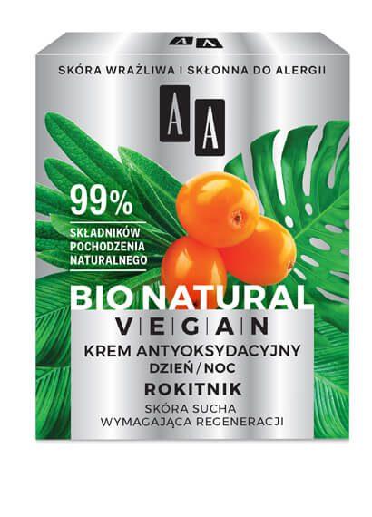AA BIO NATURAL VEGAN KREM ANTYOKSYDACYJNY ROKITNIK 50 ML