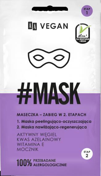 AA VEGAN Maska zabieg w 2 etapach, 2×5 ml