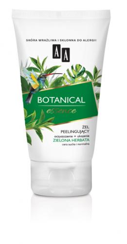 AA BOTANICAL ESSENCE Żel peelingujący oczyszczenie+ukojenie, zielona herbata, cera sucha i normalna, 150 ml, Nr Ref.: 50881