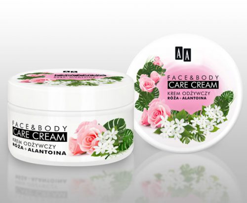 AA FACE&BODY CARE KREM ODŻYWCZY RÓŻA I ALANTOINA   125 ML