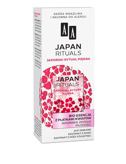 AA JAPAN RITUALS Bio-Esencja z płatkami kwiatów Japońskie źródło młodości, 35 ml