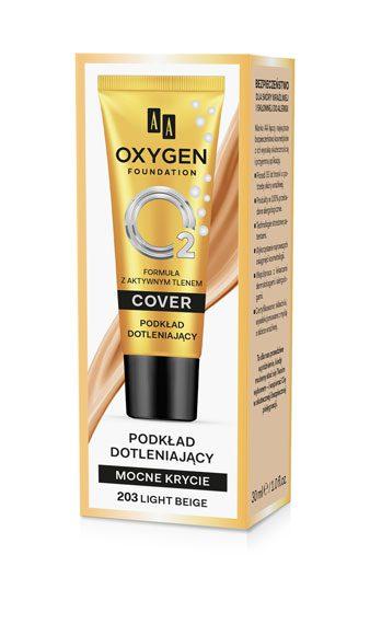 Oxygen Foundation Podkład Mocno Kryjący Dotleniający 203 Light Beige 30 ml