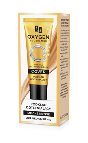 Oxygen Foundation Podkład Mocno Kryjący Dotleniający 204 Medium Beige 30 ml
