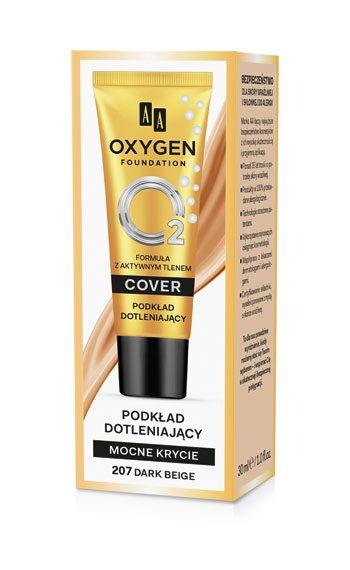 Oxygen Foundation Podkład Mocno Kryjący Dotleniający 207 Dark Beige 30 ml
