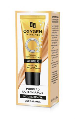 Oxygen Foundation Podkład Mocno Kryjący Dotleniający 209 Caramel 30 ml