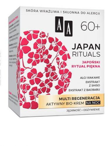 AA JAPAN RITUALS Multi Regeneracja Aktywny bio-krem na noc 60+, 50 ml