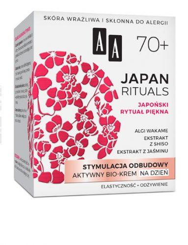 AA JAPAN RITUALS Stymulacja odbudowy Aktywny bio-krem na dzień 70+, 50 ml