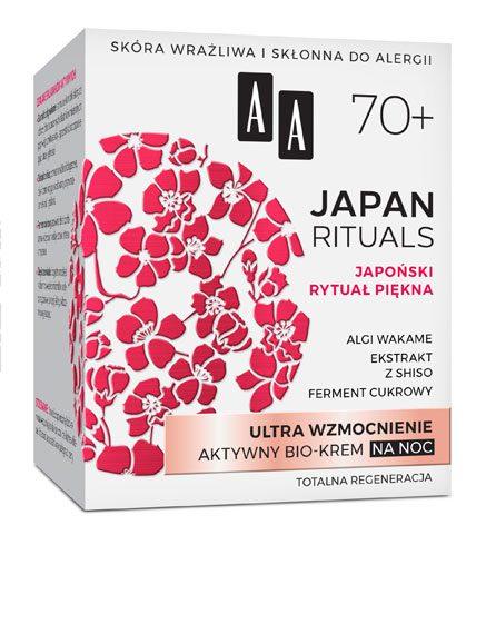 AA JAPAN RITUALS Ultra wzmocnienie Aktywny bio-krem na noc 70+, 50 ml